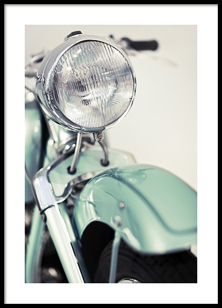 Retro Motorcycle Poster in the group Posters & Prints / Photography at Desenio AB (10639)