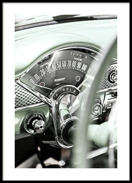 American Vintage Car Poster