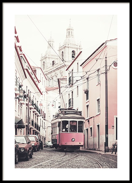 Pink Tram Poster in the group Posters & Prints / Photography at Desenio AB (10642)