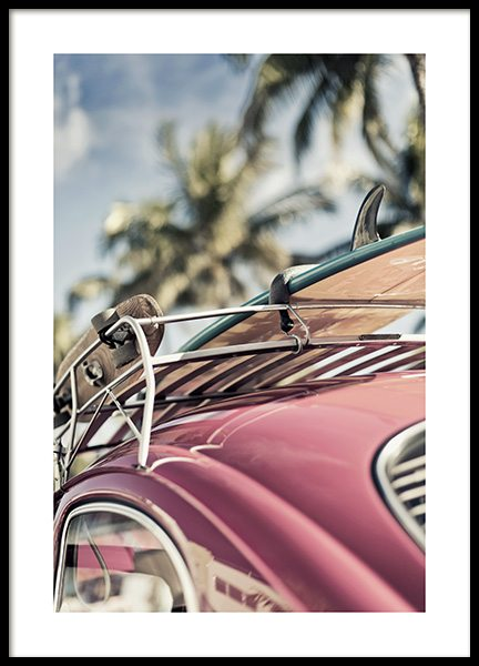 Vintage Surf Car Poster in the group Posters & Prints / Photography at Desenio AB (10644)