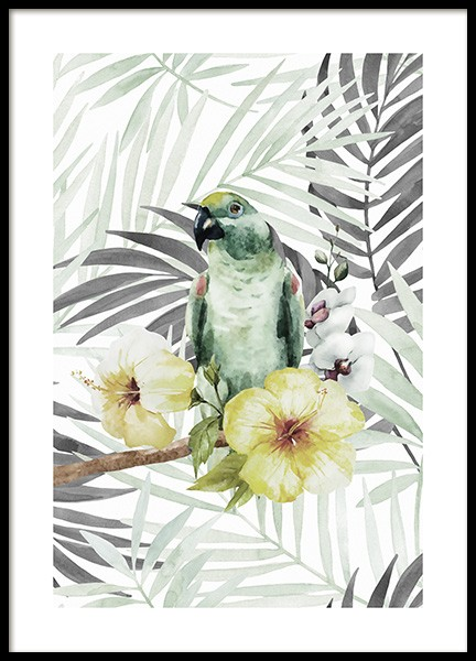 Tropical Bird No2 Poster in the group Posters & Prints / Botanical at Desenio AB (10649)