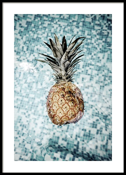 Floating Pineapple Poster in the group Posters & Prints / Photography at Desenio AB (10659)