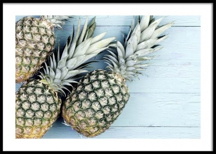 Pineapples on Wood Poster in the group Posters & Prints / Kitchen at Desenio AB (10661)