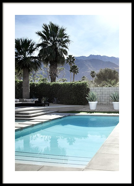 Backyard Pool Poster in the group Posters & Prints / Photography at Desenio AB (10670)