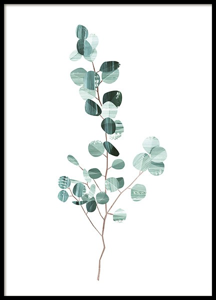 Graphic Eucalyptus Poster in the group Posters & Prints / Botanical at Desenio AB (10691)