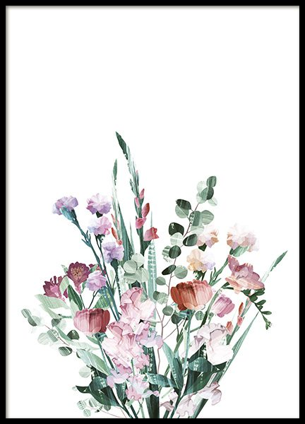 Graphic Bouquet Poster in the group Posters & Prints / Botanical at Desenio AB (10692)