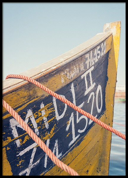 Yellow Boat Poster in the group Posters & Prints / Nature at Desenio AB (10699)