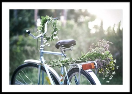 Flowers on Bicycle Poster in the group Posters & Prints / Photography at Desenio AB (10710)