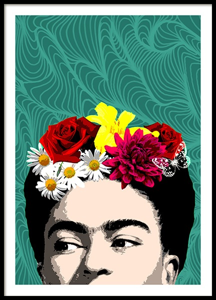 Shy Frida Poster in the group Posters & Prints / Illustrations at Desenio AB (10713)