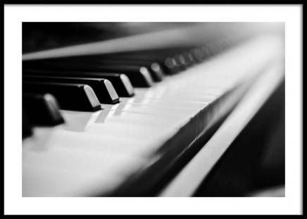 Piano Poster in the group Posters & Prints / Black & white at Desenio AB (10721)