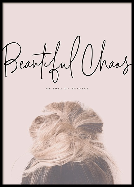 Beautiful Chaos Poster in the group Posters & Prints / Typography & quotes at Desenio AB (10730)