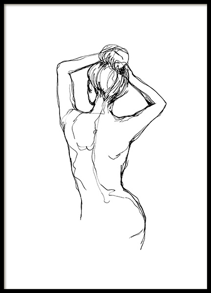Undressed Sketch Poster in the group Posters & Prints / Art prints at Desenio AB (10743)
