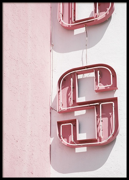 Pink Sign Poster in the group Posters & Prints / Photography at Desenio AB (10762)