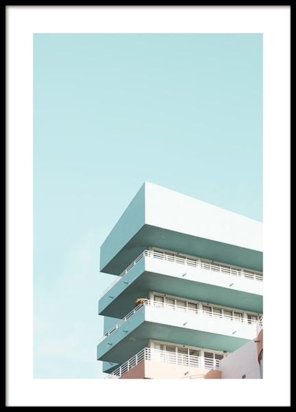 Pastel Balconies Poster in the group Studio Collections / Studio Coast to Coast / Miami at Desenio AB (10767)