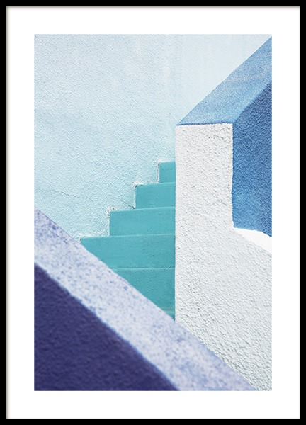 Blue Stairs Poster in the group Studio Collections / Studio Coast to Coast / Miami at Desenio AB (10775)