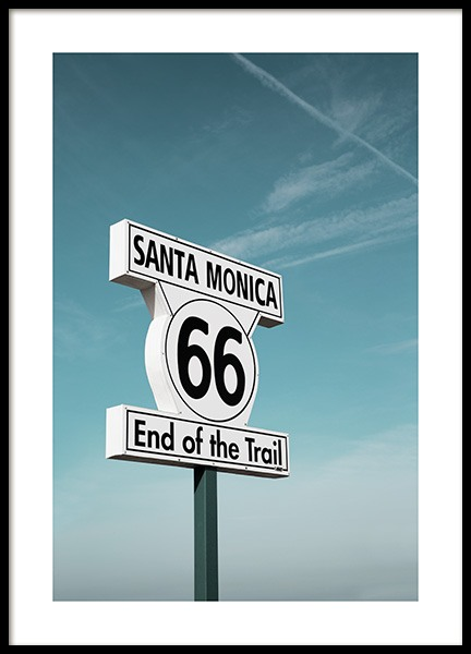 Route 66 Sign Poster in the group Posters & Prints / Photography at Desenio AB (10778)