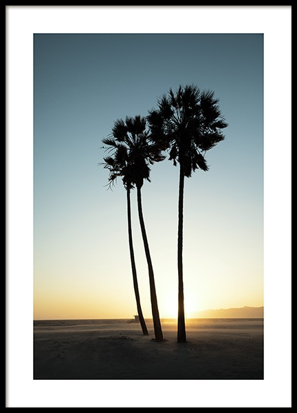 Los Angeles Sunset Poster in the group Posters & Prints / Nature / Tropical at Desenio AB (10786)