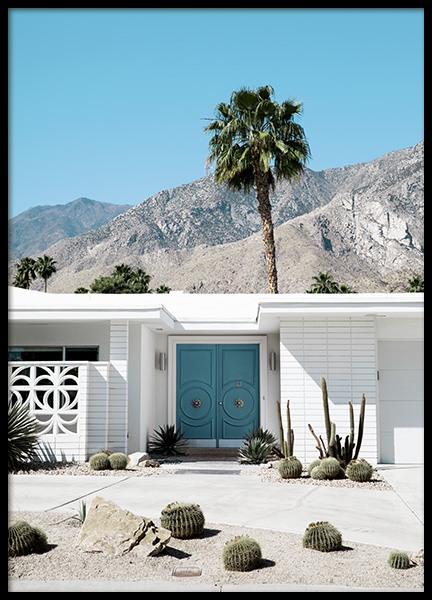 Blue Door Palm Springs Poster in the group Posters & Prints / Studio Collections / Studio Coast to Coast / Palm Springs at Desenio AB (10794)