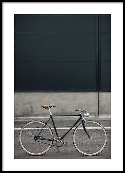 Green Retro Bike Poster in the group Posters & Prints / Photography at Desenio AB (10804)