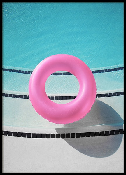 Pink Pool Ring Poster in the group Posters & Prints / Photography at Desenio AB (10807)