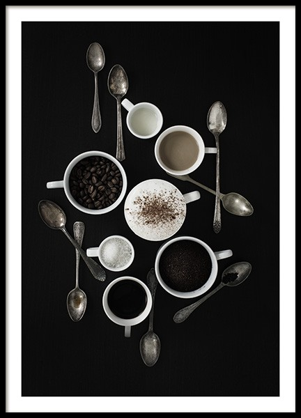 Coffee Still Life Poster in the group Posters & Prints / Kitchen at Desenio AB (10823)