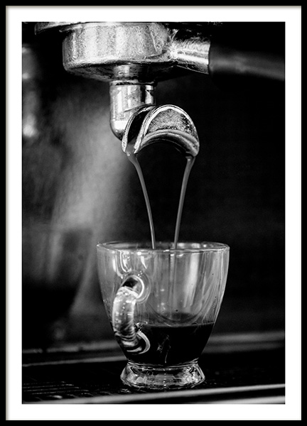 Espresso Poster in the group Posters & Prints / Black & white at Desenio AB (10824)