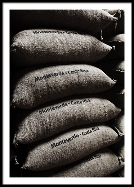 Coffee Bean Bags Poster in the group Posters & Prints / Kitchen at Desenio AB (10826)