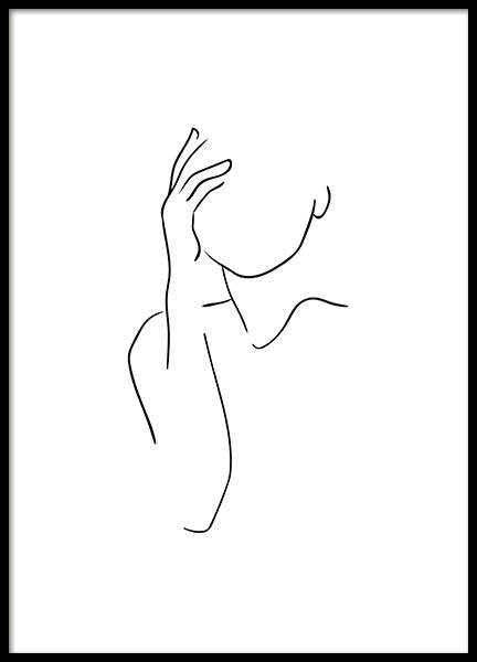 Shoulder Line Art Poster in the group Posters & Prints / Black & white at Desenio AB (10836)