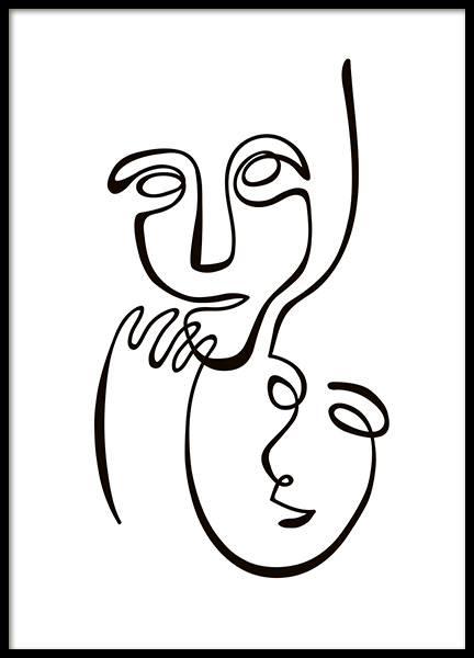Abstract Line Duo Poster in the group Posters & Prints / Black & white at Desenio AB (10839)