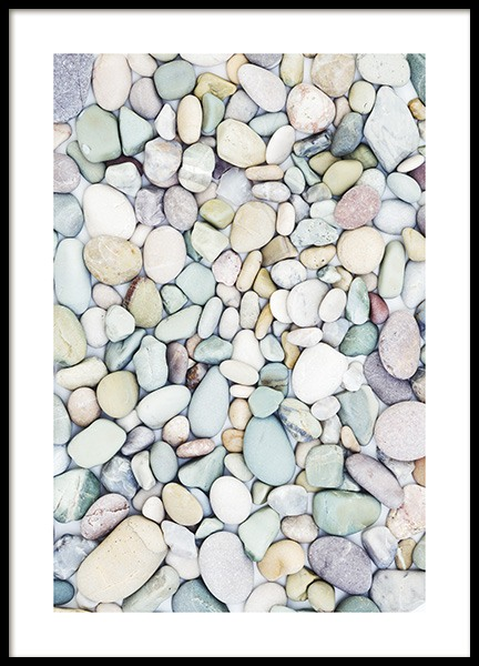 Pastel Stones Poster in the group Posters & Prints / Nature at Desenio AB (10851)