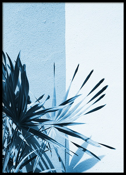 Ice Blue Palm Leaf Poster in the group Posters & Prints / Botanical at Desenio AB (10853)