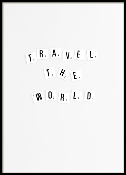 Travel Poster in the group Posters & Prints / Typography & quotes at Desenio AB (10863)