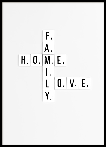 Family Scrabble Poster in the group Posters & Prints / Text posters at Desenio AB (10866)