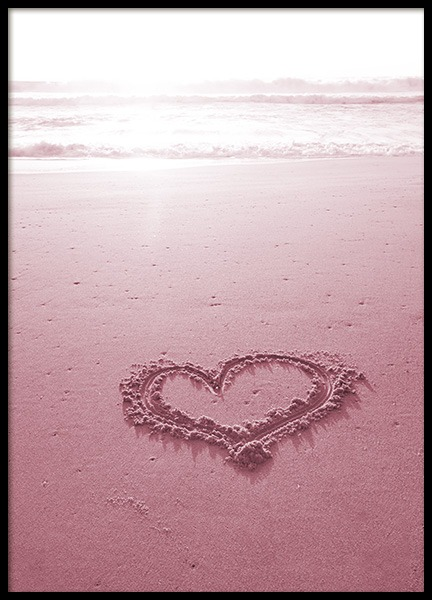 Heart on the Beach Poster in the group Posters & Prints / Nature at Desenio AB (10886)