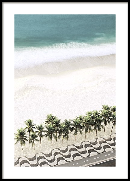 Row of Palm Trees Poster in the group Posters & Prints / Nature / Tropical at Desenio AB (10887)