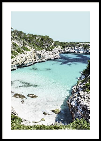 Mallorca Bay Poster in the group Posters & Prints / Nature / Tropical at Desenio AB (10895)
