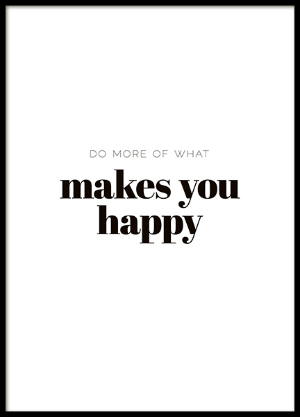 What Makes You Happy Poster in the group Posters & Prints / Typography & quotes at Desenio AB (10907)
