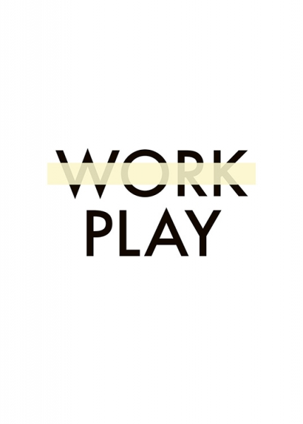 Work Play Poster in the group Posters & Prints / Typography & quotes at Desenio AB (10913)