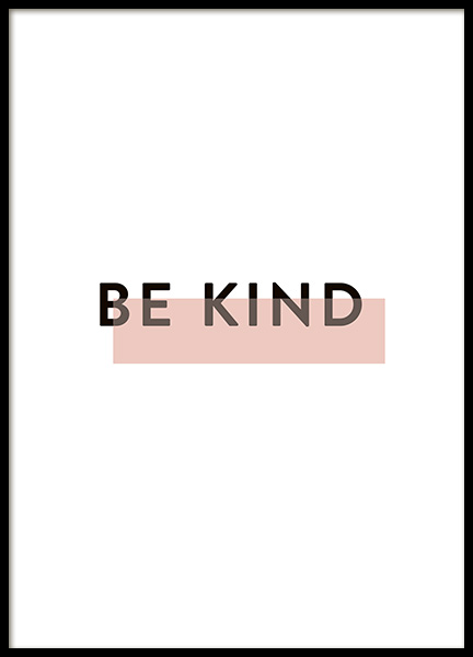 Be Kind Poster in the group Posters & Prints / Typography & quotes at Desenio AB (10914)