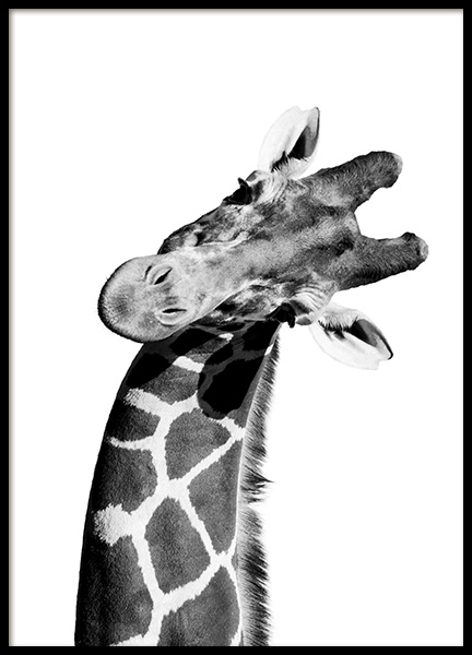 Giraffe Portrait Poster in the group Posters & Prints / Kids posters at Desenio AB (10966)