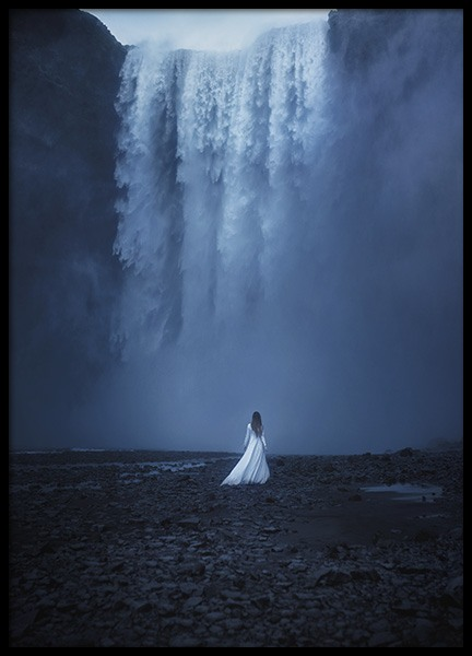 Woman by the Waterfall Poster in the group Posters & Prints / Nature at Desenio AB (10978)
