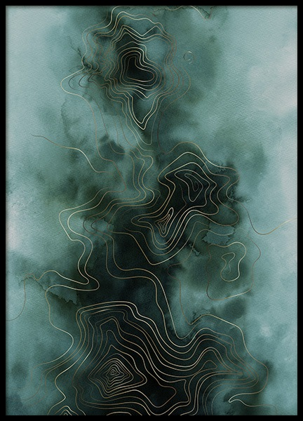Abstract Map Green Poster in the group Posters & Prints / Art prints / Abstract art at Desenio AB (11017)
