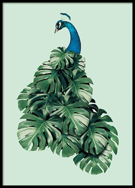Monstera Bird Poster in the group Posters & Prints / Kids posters at Desenio AB (11019)