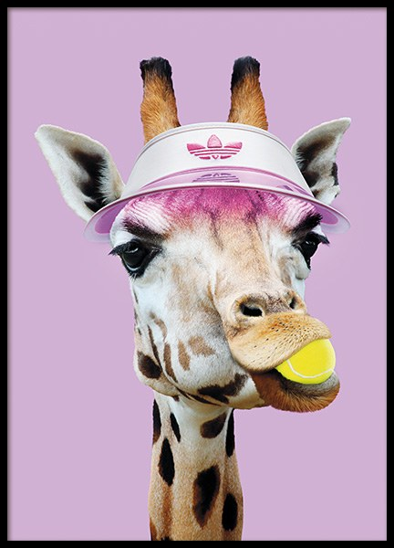 Tennis Giraffe Poster in the group Posters & Prints / Insects & animals at Desenio AB (11020)