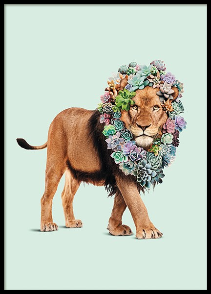 Succulent Lion Poster in the group Posters & Prints / Kids posters at Desenio AB (11021)