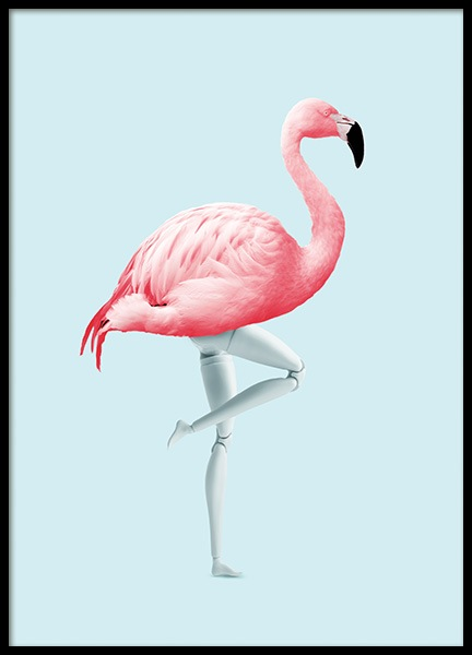 Flamingo Mannequin Poster in the group Posters & Prints / Insects & animals at Desenio AB (11022)