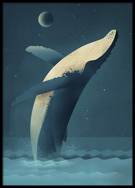 Vintage Humpback Poster in the group Posters & Prints / Kids posters at Desenio AB (11025)