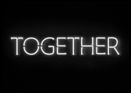 Together Neon Poster in the group Posters & Prints / Typography & quotes at Desenio AB (11059)