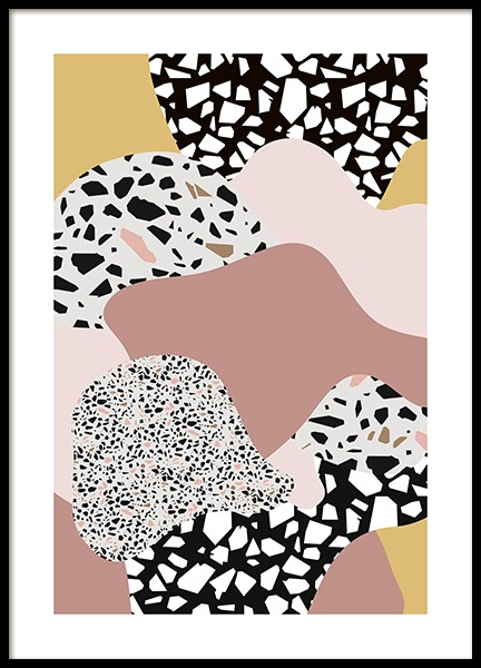 Terrazzo Collage No2 Poster in the group Posters & Prints / Art prints at Desenio AB (11064)