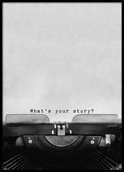 What's Your Story Poster in the group Posters & Prints / Typography & quotes at Desenio AB (11127)